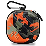 #6: TIZUM Earphone Carrying Case - Multi Purpose Pocket Storage Travel Organizer for Earphone, Pen Drives, Memory Card, Cable (Camouflage Orange)