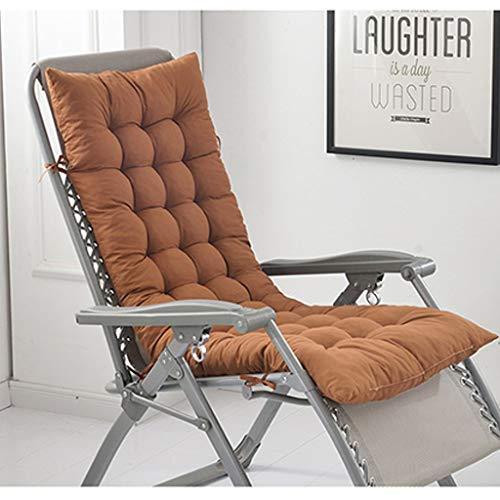 BLSTY 8CM Verdicken Waschbar Ruhesessel Stuhlkissen, EPE Schaum Atmungsaktivem Entlastung Schmerzen Sitzkissen für Schaukelstuhl Rückenkissen-48x152Cm(19x60Zoll)-Eine braune Farbe - Braune Outdoor-bänke