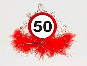 CREATIVE Diadema señal de tráfico 50 cumpleaños