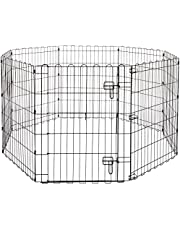 AmazonBasics Foldable Metal Pet Exercise and Playpen with Door