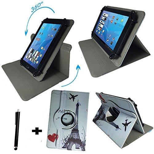 Tablet Tasche für SAMSUNG GALAXY TAB 4 NOOK SM-T230 Schutz Hülle Etui + Touch Pen - 7 Zoll Paris 360° Samsung Galaxy Tab 4 Nook-etui