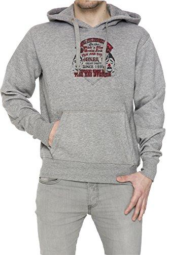 Joker Festival Uomo Grigio Felpa Felpa Con Cappuccio Pullover Grey Men's Sweatshirt Pullover Hoodie
