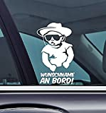 Wunschname An Bord!- Cowboy Baby On Board Personalised with your Name Funny Auto Vinyl Sticker Car Jdm OEM Vertical Sticker Bomb Stickers Decals Tuning Sticks