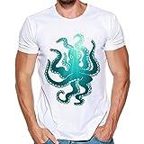 Malloom Homme Impression T-Shirts Chemise à Manches Courtes T-Shirt Blouse Paul