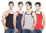 Bodysense Multicolor Men's Gym Vest ( Pa...