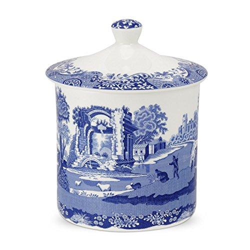 Bleu italien 19 cm Porcelaine Pot de rangement, Bleu/Blanc