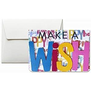 Make a wish - Wünsche dir etwas - Glück - Grußkarte mit Umschlag (10,5 x 15 cm) - handgemachte Karte - freier Raum nach innen