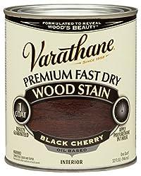 Rust-Oleum 262009 Varathane Premium Fast Dry Wood Stain, 32-Ounce, Black Cherry - 2 Pack