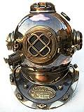 historicalmuseumstore Boston Mass USA Mark V Solid Taucher Helm Antik Schwarz