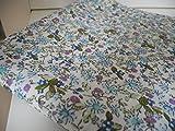 Lottashaus Polycotton Stoff 1 meter Blau Blümchen