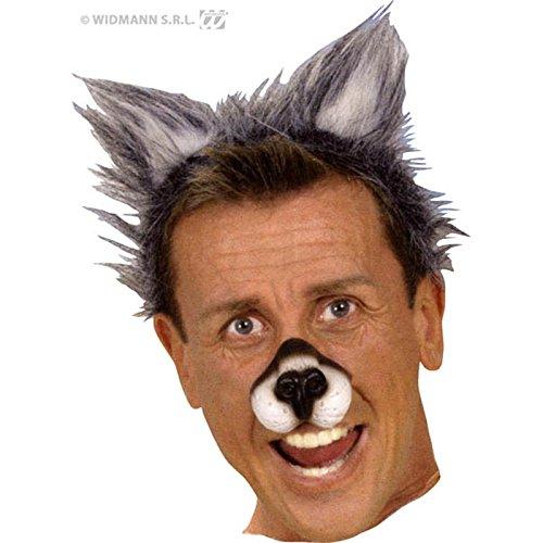 Katze Kostüm Werwolf - Unbekannt Widmann-AC5138-Haarreif mit Wolfs-Ohren aus Kunststoff