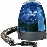 HELLA 2RL 007 337-121 Rundumkennleuchte, Halogen, Magnetbefestigung, Ø 130 mm, 2-polig, 12 V, blau