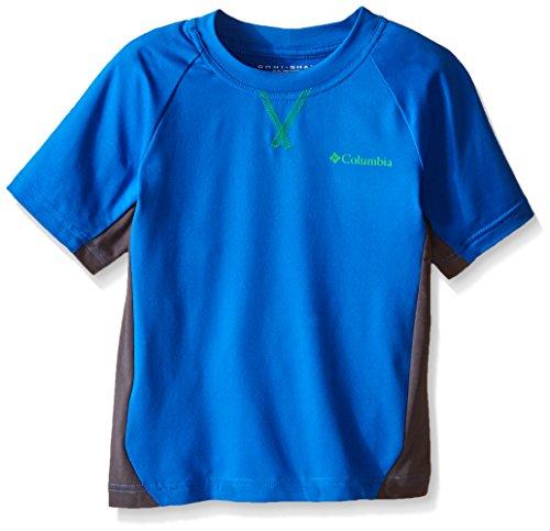 Columbia Silver Ridge-Boy's-Maglia a maniche corte Blu Super Blue/Grill M