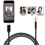 Dreamerd iPhone AUX Kabel, Lightning to 3,5 mm Premium Auxiliary Audiokabel für iPhone X / iPhone 8 / iPhone 7, unterstützt IOS 11 oder später