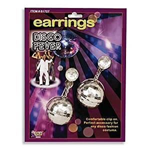 DISCO Ball Ear Rings (disfraz)