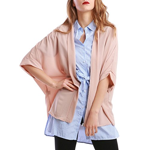 La Modeuse - Kimonofemme coupe courte Rose