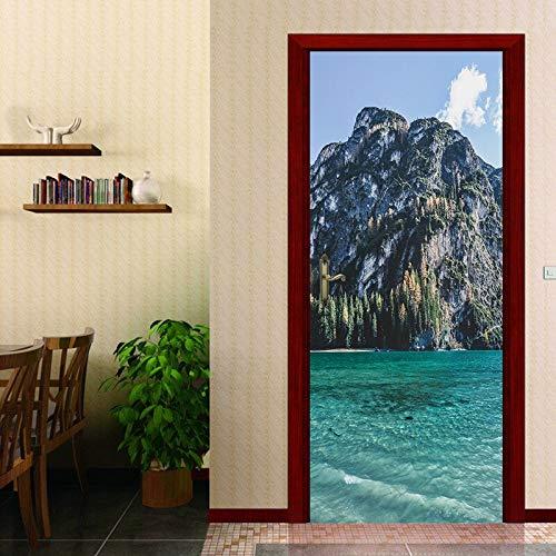 er Tür Aufkleber Kühlschrank Aufkleber Wandbild PVC Selbstklebende Kühlschranktür Tapete Küche Dekor Möbel Kunst ()
