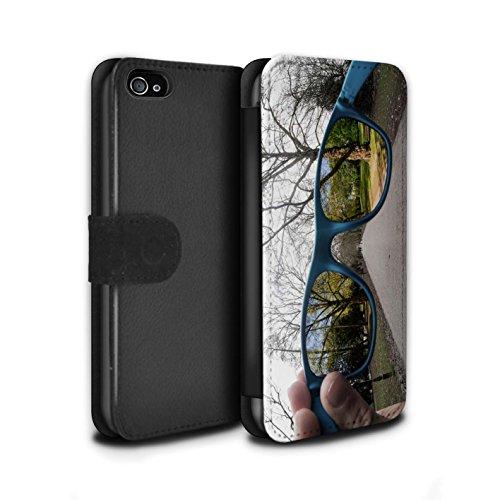 Stuff4 Coque/Etui/Housse Cuir PU Case/Cover pour Apple iPhone 4/4S / Faire Demi-Tour Design / Imaginer Collection Ressort Spiral