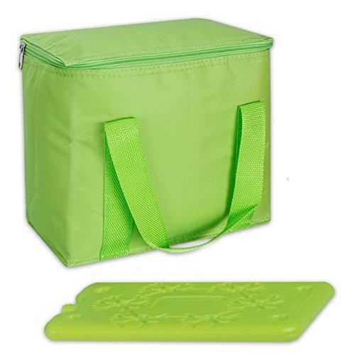 7 Liter Kühltasche Thermotasche Kühlbox Cool Butler inklusive 1 Kühlakku in 3 Farben (limette)
