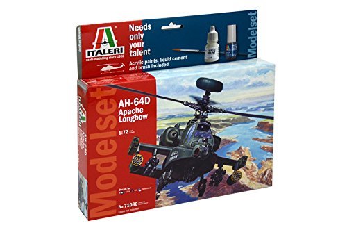 Italeri 71080 - model set: ah-64d apache longbow 1/72 model kit  scala 1:72