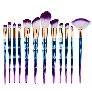 bulary pinceau maquillage licorne 12pcs kit pinceaux. Black Bedroom Furniture Sets. Home Design Ideas
