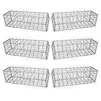 MonsterShop Gabion Baskets Galvanised Steel Cages Mesh Wire Stone Basket Outdoor Spiral Retaining Wall Planter Garden / 100 x 30 x 30cm / 6 Pack