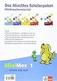 MiniMax / Schülerpaket 1. Schuljahr: (enthält 3 Arbeitshefte, 1 Lernplaner und Wendeplättchen) -