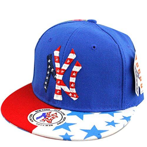 Belsen Kind Hip-Hop Stickerei Cap Baseball Kappe Hut (blau)
