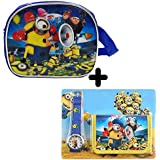 GRAPPLE DEALS New Cartoon Design Kids Sling Bag With Beautiful Watch, Wallet Complete Set For Kids Boys (Combo For Boys-2)