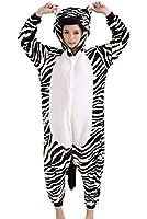 LATH.PIN Jumpsuit Tier Karton Fasching Halloween Kostüm Sleepsuit Cosplay Fleece-Overall Pyjama Schlafanzug Tierkostüme