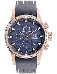 Kappa Reloj de hombre con correa de piel, indicación de fecha día de la semana GMT KP de 1434 m de S