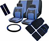 XtremeAuto Universal Blue RS Seat Cover - Mat - Seat Belt Pads