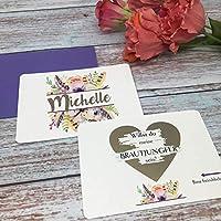 Karte Willst du meine Brautjungfer sein, Rubbelkarte, Hochzeit, Brautjungfer fragen, Personalisierte Geschenke