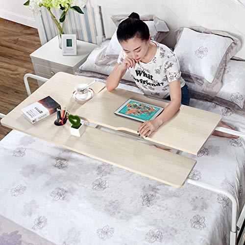 Beistelltisch auf Rädern über dem Betttisch Laptop Schreibtisch Laptop Schreibtisch Mobile Computer Schreibtisch Sofa Tisch für Büro Krankenhaus Schlafzimmer mit verstellbarer Höhe und Breite -