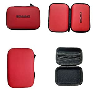 REALMAX Premium Quality Compact Digital Hard Camera Shell Case Cover Bag Box | for Sony, Cannon, Samsung, Fujifilm, Olympus, Panasonic, Kodak, Casio, Nikon Camera Next Day Dispatch (Red)