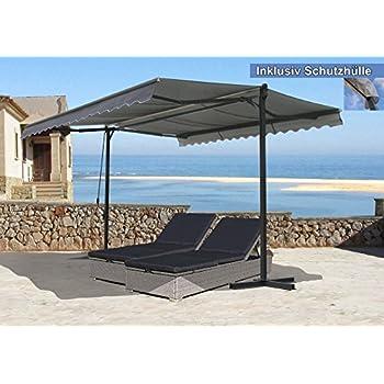 Mobile Markise Sonnenschutz Beige 4m X 3m