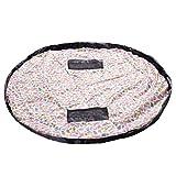 HIMRY XXL Kinder Aufräumsack Spieldecke Spielmatte, 151cm Matte Ideal für Spielen und Schnell Aufräumen von Legos, Dupla usw, Spielzeug Aufbewahrung Beutel, Bunter Vogel, KXD4006 colorfulbird