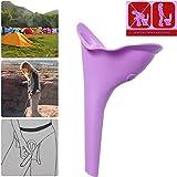Y.F.M. Frauenurinal Urinal für Frauen für sicheres Urinieren im Stehen oder Hocken, ,wiederverwendbar und tragbar, ideal für unterwegs wie Camping, Reisen, Wandern,Bergsteigen
