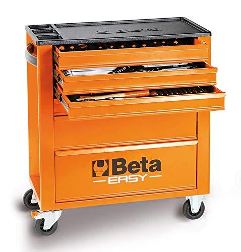 Cajonera Beta Easy C24E/VI surtido 182 herramientas + carro taller
