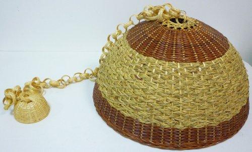 Plafoniere In Vimini : Lampadario lampada in bamboo bambù vimini e giunco appendibile per
