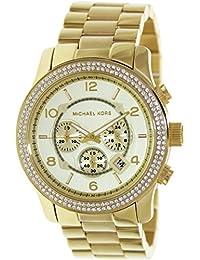 Michael Kors MK5575 - Reloj con correa de acero para mujer, color dorado / gris