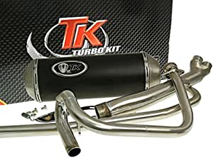 Auspuff Turbo Kit 2 In 1 X Road Hyosung Gt 125 N Naked Auto