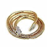 herzii Frauen Schlange Halskette Schmuck Fashion Kristall-Gürtel Gold/versilbert Schlange Gürtel Halskette Hot Verkauf (87,9cm)