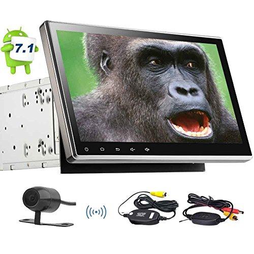 EINCAR Wireless-Backup-Kamera inklusive! GPS Autoradio mit 10.1inch kapazitivem Schirm Android 7.1 Autoradio in Dash GPS NAV-Steuergerät Unterstützung 1080P CD DVD Video Auto-Player WLAN-Mirrorli