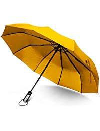 Regenschirm, Rainlax winddicht Regenschirm Taschenschirm mit Zehn-Rippen, automatisch öffnen und schließen, kompakt und leicht, Lebenslange Garantie, verschiedene Farben