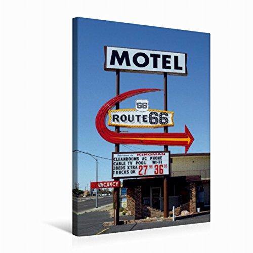 Premium Textil-Leinwand 50 cm x 75 cm hoch Motel Route 66, Kingman,...