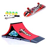Mini skateboard per dita con rampa e set di accessori, A