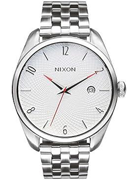 Nixon Damen-Armbanduhr Bullet White Analog Quarz Edelstahl A418100-00