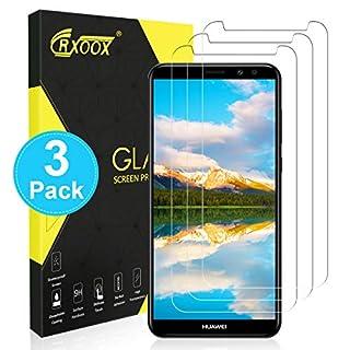 CRXOOX 3 Stück Schutzfolie für Huawei Mate 10 Lite Panzerglas, 9H Härte HD Clear Displayschutzfolie, Anti-Kratzen Anti-Öl Blasenfrei Hüllenfreundlich 3D Touch Kompatibel Mate 10 Lite Panzerglasfolie