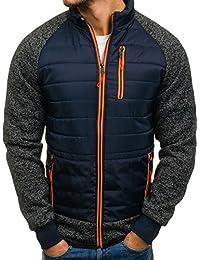 BOLF – Veste avec capuche – Fermeture éclair – À mi-saison – Style sportif – Homme 4D4